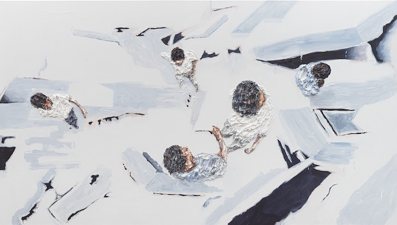 Clemens Krauss, Untitled (from the series Friction) II, Oil on canvas, 140 x 250cm.