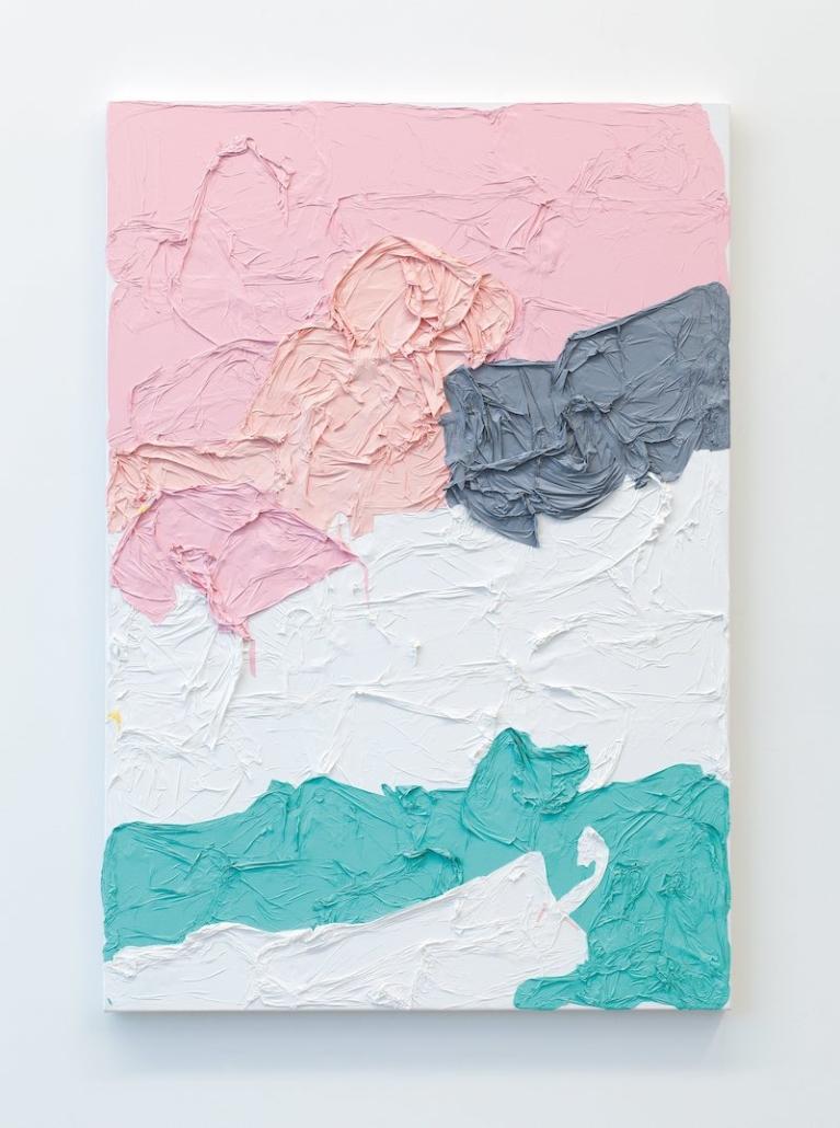 Huseyin Sami, Untitled (PPGWA), 2015. Acrylic on canvas, 122.5 x 84cm.