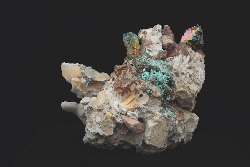 Suji Park, Dol IV, 2015. Fired clay, unfired clay, non-firing clay, plaster, pigments, bismuth, nail glue, garnet and acrylic, dimensions variable.
