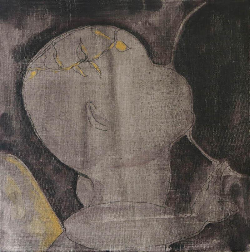 Judith Wright, Fragment [1], 2017. Acrylic on linen, 31 x 31cm.